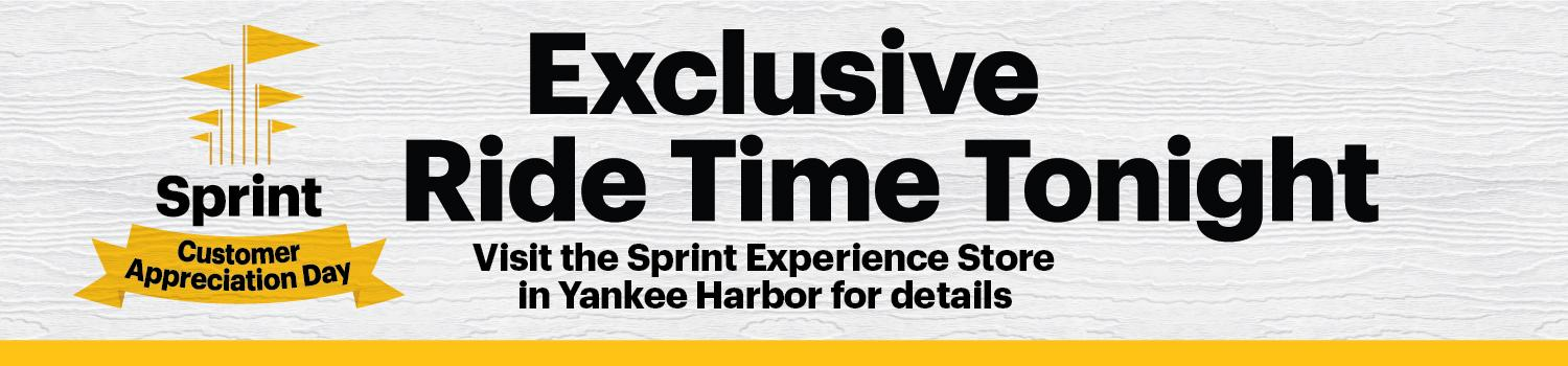 Sprint Customer Appreciation day logo with six yellow flags and yellow ribbon