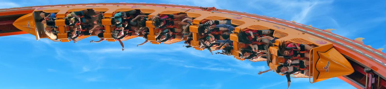 Bourbon Street Fireball looping coaster