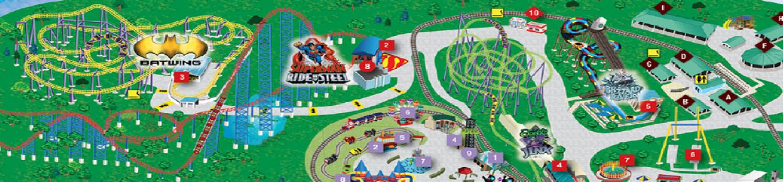 Six Flags America Map Park Map | Six Flags America