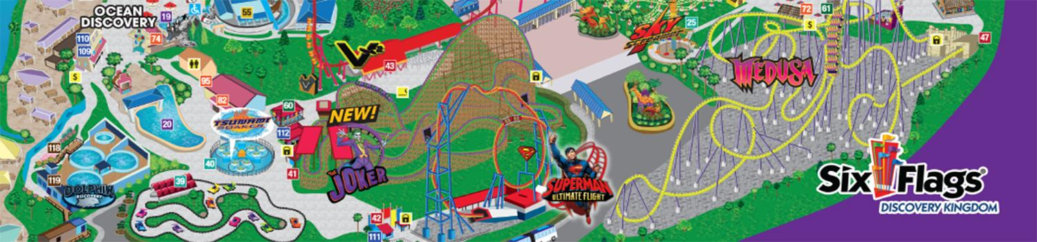 park map six flags discovery kingdom