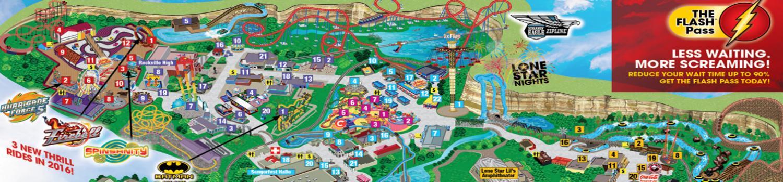 Six Flags Fiesta Texas Park Map