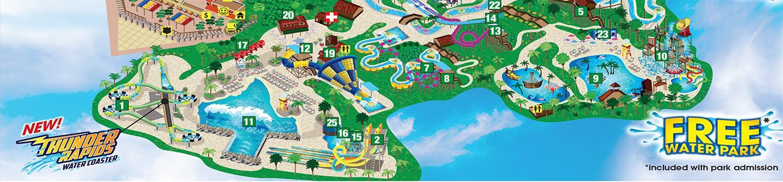 Fiesta Texas Map - Hurricane Harbor Area