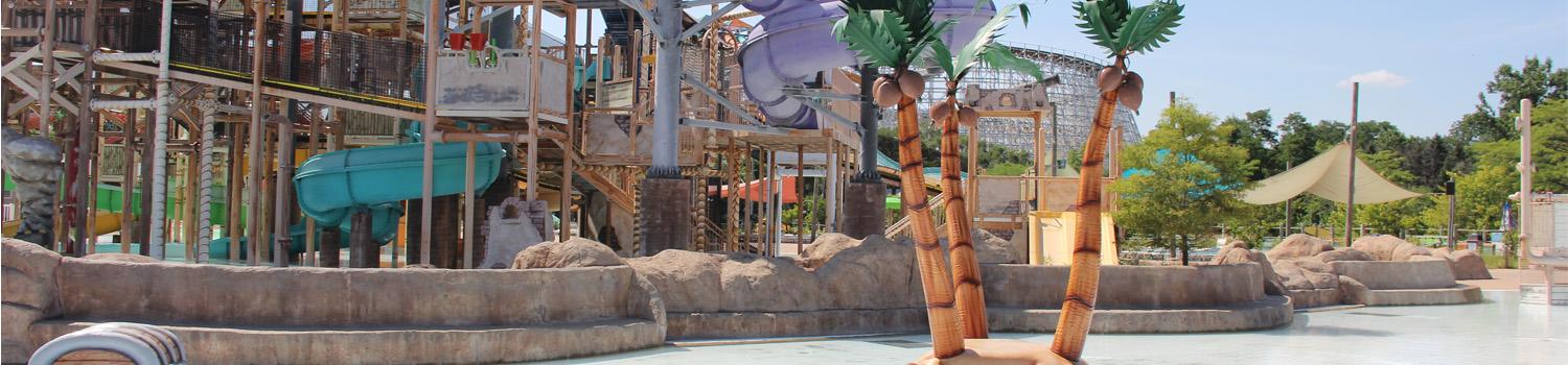 Buccaneer Bay palm tree play zone overlooking Skull Island