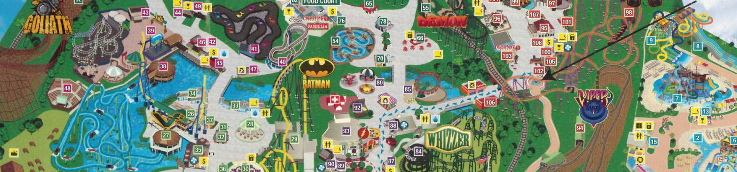 Six Flags America Map Park Map | Six Flags Great America