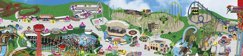 park map six flags magic mountain