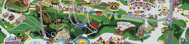 Magic Mountain Park Map Map of Six Flags Magic Mountain Map,   World Map Database