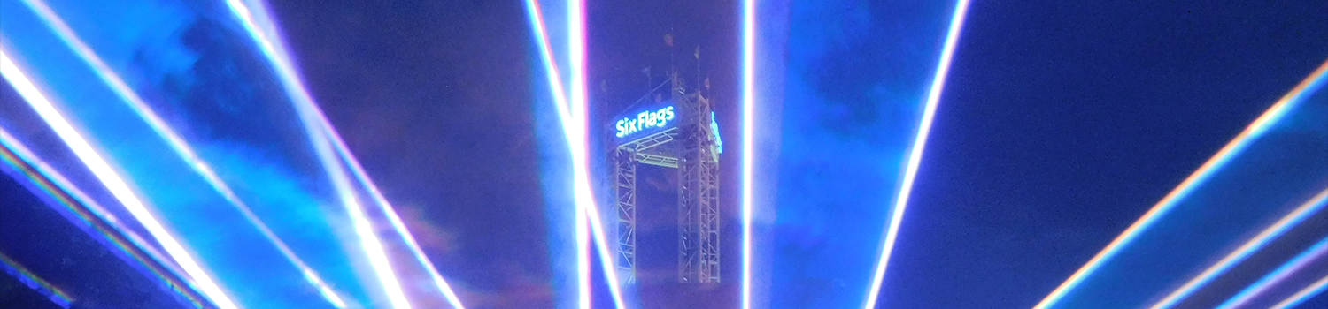 Northern Lights Laser Show at Six Flags New England