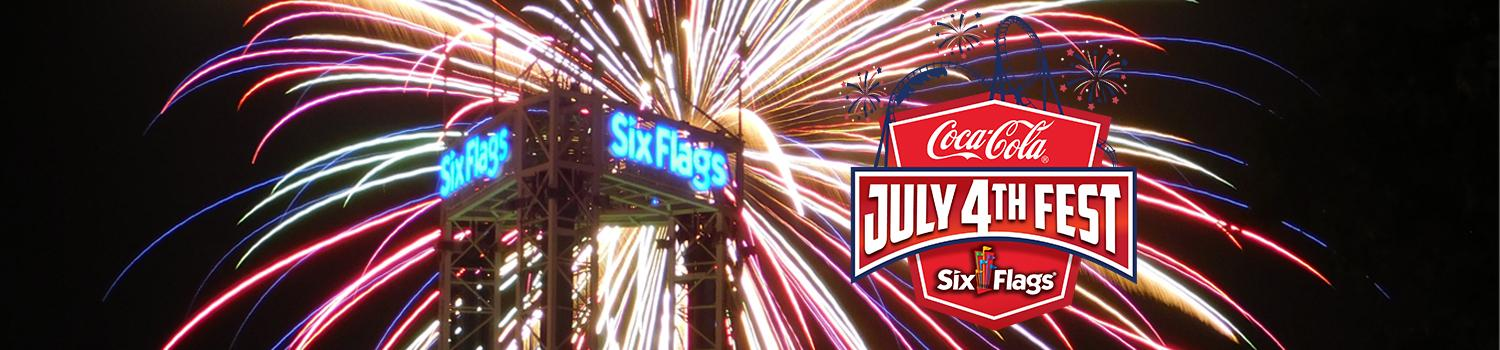 Fireworks and thrill rides at Six Flags New England