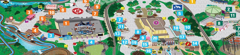 Park Map Six Flags St Louis