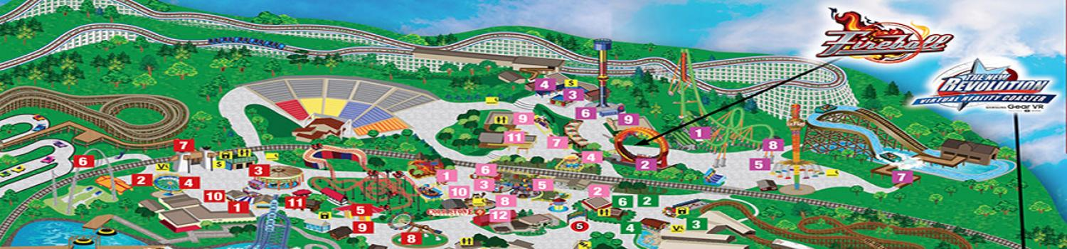 Map of Six Flags St. Louis