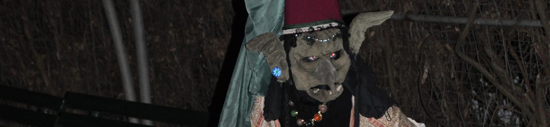 Female troll at Fright Fest