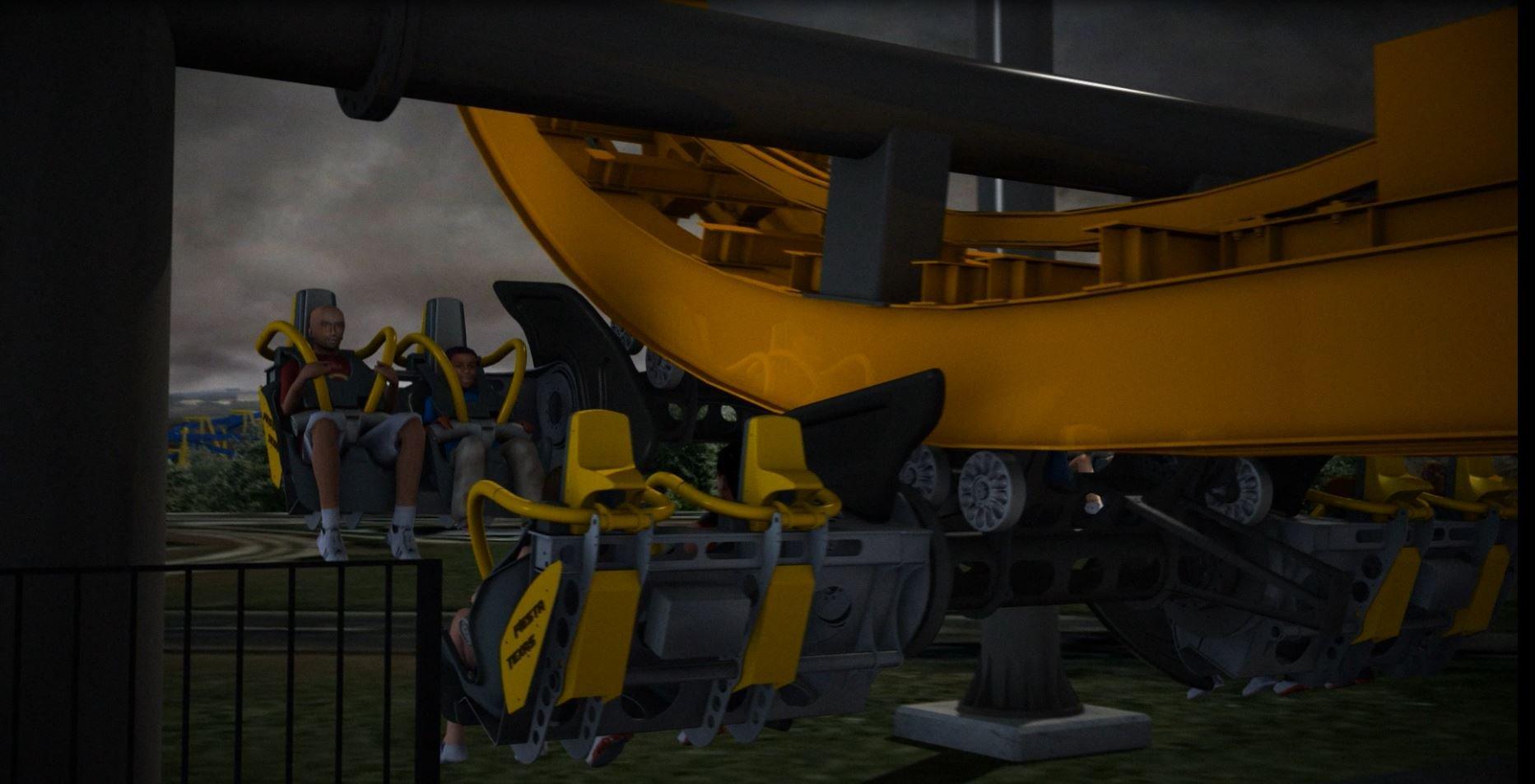 Six Flags Fiesta Texas - Batman Cars