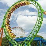 Six Flags Boomerang roller coaster
