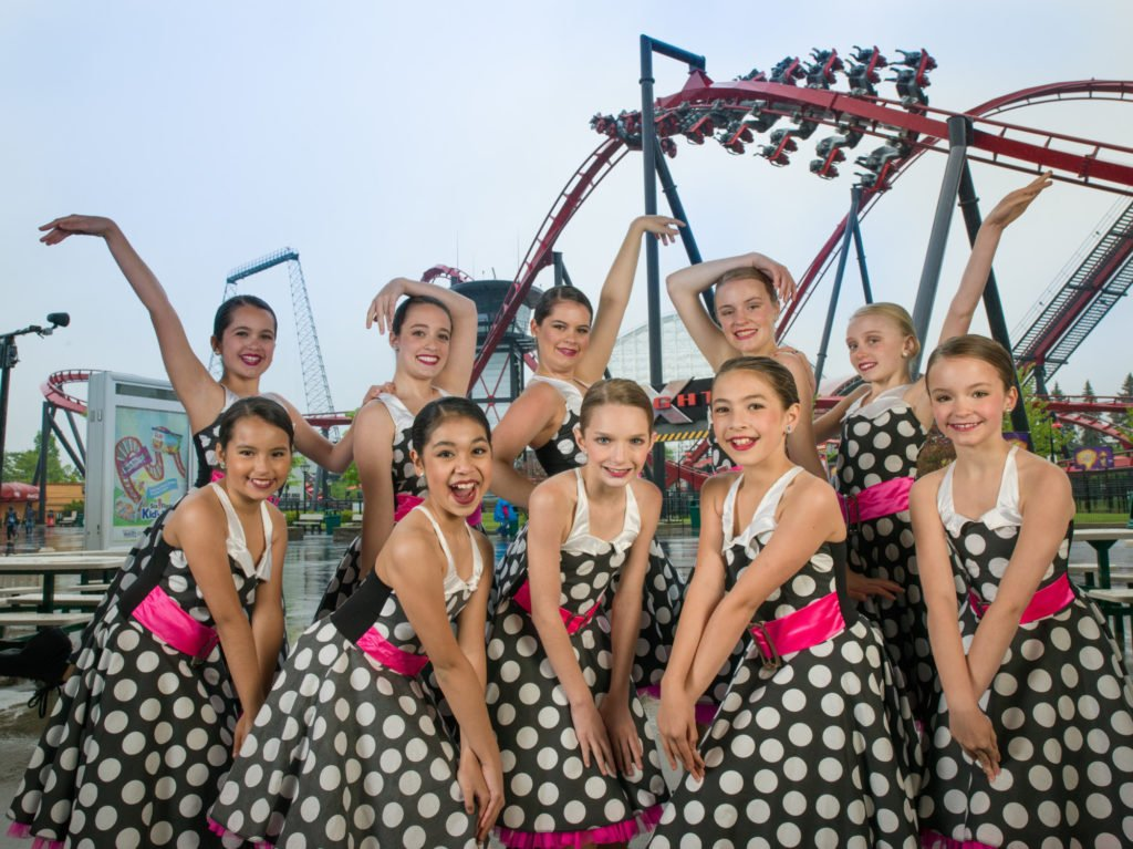 dance group at six flags