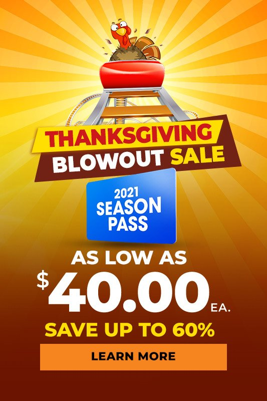 Thanksgiving Blowout Sale season passes as low as $40