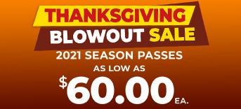 Thanksgiving Blowout Sale season passes as low as $60